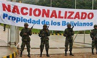 Enteignung bolivianischen Oels